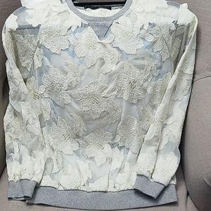 Zara sheer flower top